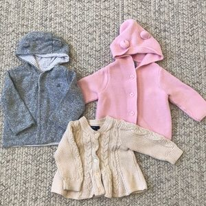 Bundle of Baby Gap Cardigans + FREE Carters bolero